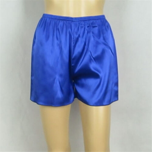 Women's Girl's Satin Silk Shorts Nightwear Sleepwear Pants Pyjamas Bottom M-3XL