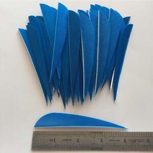 50PCS 5inch Dark Blue Parabolic Vanes Fletches Feathers Fletching RW LW