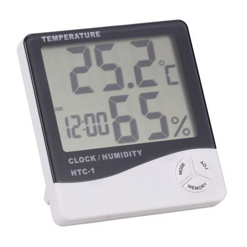 Intérieur//Extérieur Thermomètre numérique hygromètre Température Horloge Affichage LCD Home