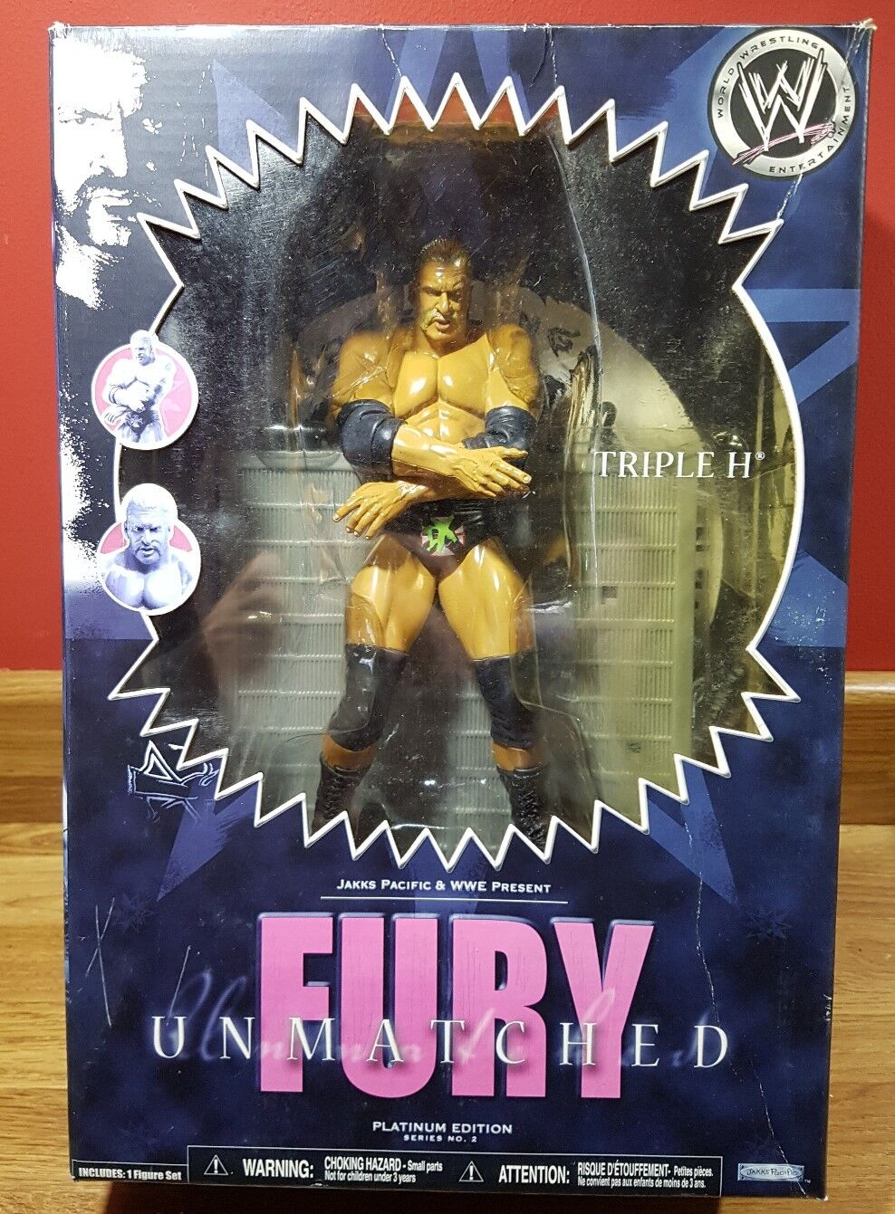 WWE - Unmatched Fury - TRIPLE H   - Platinum Edition - Series 2 - Rare
