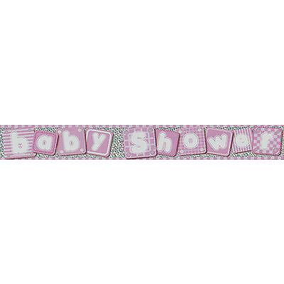 BABY SHOWER BANNERS PARTY DECORATIONS FOR BOY & GIRL PINK BLUE 8 DESIGNS