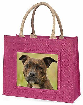 Staffordshire Bullterrier Hund Große Rosa Einkaufstasche Weihnachten Pr,