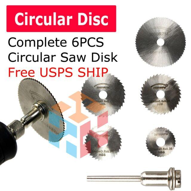 6pcs Circular Saw Disc Set Mini Drill Rotary Tool Wood Cutting Blade AccessoryWH