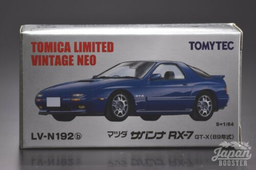 Blue MAZDA SAVANNA RX-7 GT-X 1989 TOMICA LIMITED VINTAGE NEO LV-N192b 1//64