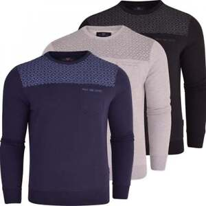 Duck-and-Cover-Mens-Original-Crew-Neck-Sweatshirt-Jumper-Smart-Casual-Top-Pocket
