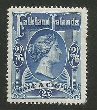 FALKLAND IS SG41 THE 1898 2/6d DEEP BLUE MOUNTED MINT CAT £275