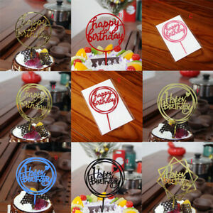 Happy-Birthday-Cake-Topper-Acrylic-Letter-Gold-Silver-for-Kids-Party-Wedding-JB