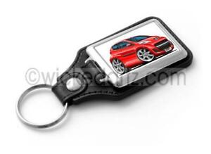 RetroArtz Cartoon Car Peugeot 107 in Red Premium Metal Key Ring