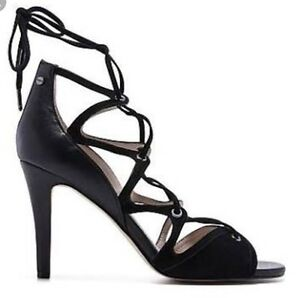 ff35a1795b5 Details about Mimco 👠 $299 New Leather Bound To You Leather Heels Shoes  Sandals 41 Or 10