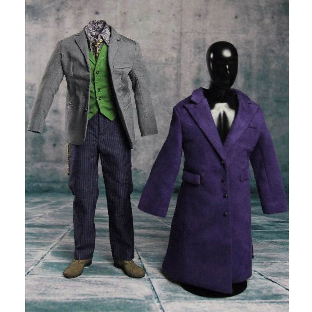 Heath Ledger Costume Set 1 6 Joker Batman de 2.0 DX01 DX11 Traje Para Hot Juguetes Cuerpo