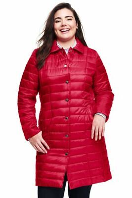 $99 NWT Lands End Womens Tall Quilted Primaloft Jacket Small 6-8