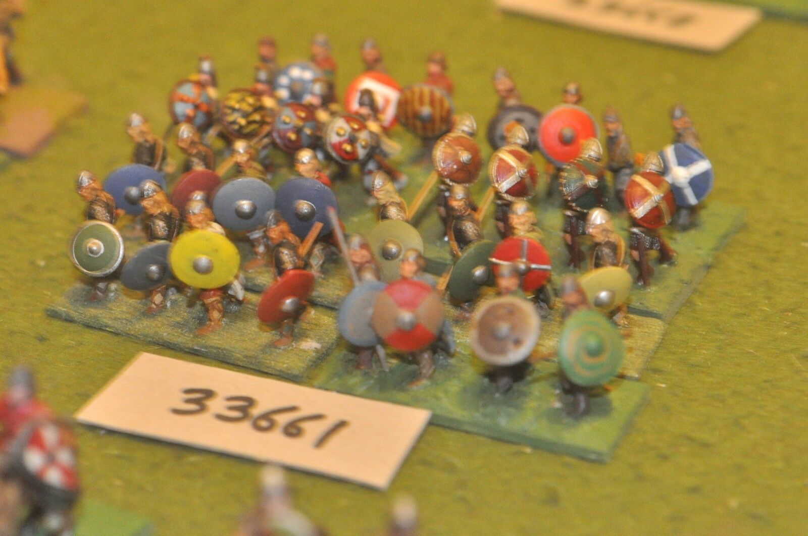 25mm dark ages   anglo-saxon - spearmen 32 figures - inf (33661)