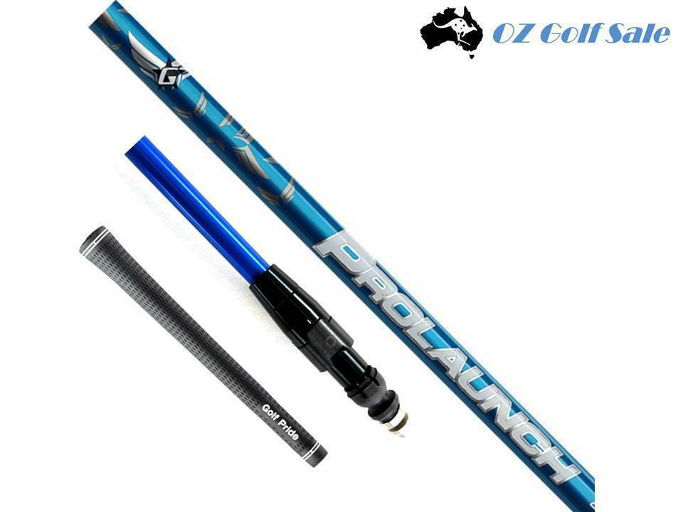 Grafalloy Prolaunch Azul 45 A R S Eje + ADAPTADOR MANGA PUNTA + Grip-construido para Spec