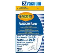 Kenmore 20-50688 / 20-50690 Style U Vacuum Cleaner Bags Panasonic U-2,u2 Bags