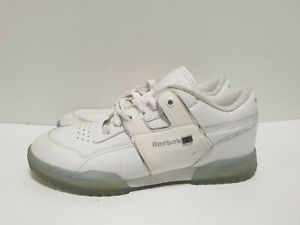R943 WOMENS REEBOK WHITE LEATHER LACE UP CASUAL TRAINERS UK 5.5 EU 38
