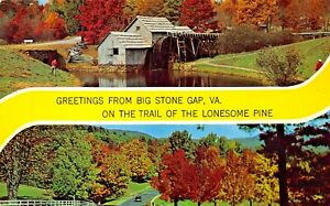BIG-STONE-GAP-VIRGINIA-TRAIL-OF-THE-LONESOME-PINE-GREETINGS-FROM-1963-POSTCARD