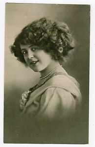 039-Girl-with-pearl-Necklace-039-Circa-Early-1900-039-s-Vintage-photograph-on-card