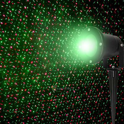 Waterproof R&G Outdoor Garden Landscape Projector Laser Xmas Stage Light Decor