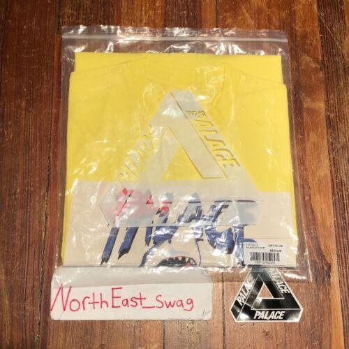 Palace Surf Co T-Shirt Tee Light Pale Yellow Jaws Shark Medium BRAND NEW