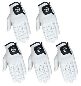 SG-Pack-of-5-White-Cabretta-Leather-Golf-gloves-4-Men-and-Ladies-premium-quality