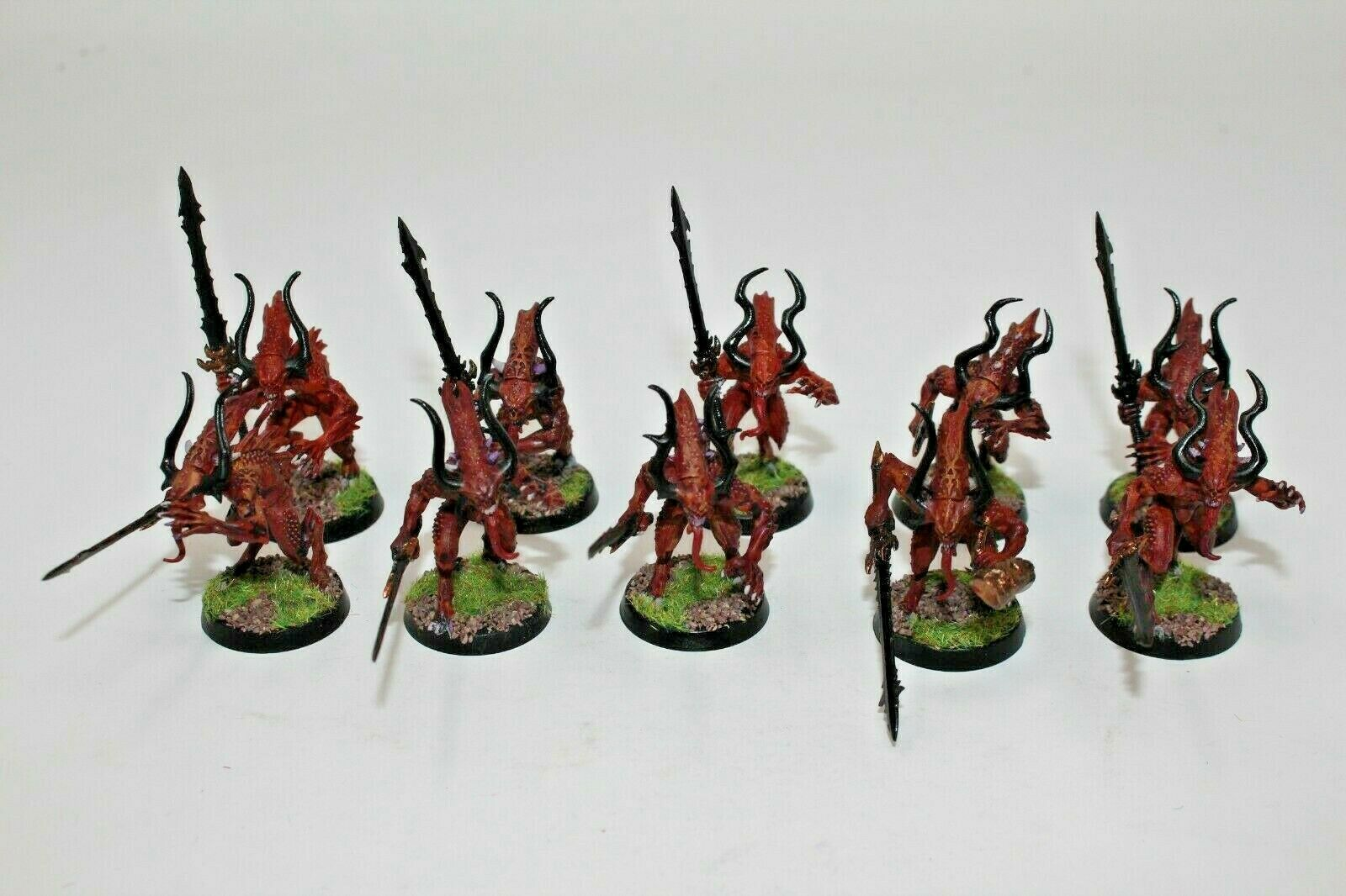 Warhammer Warriors Of Chaos Bloodletters Bloodletters Well Painted - E2