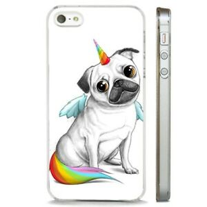 Pug Pugicorn Unicorn Dog Puppy Clear Phone Case Cover Fits Iphone 5