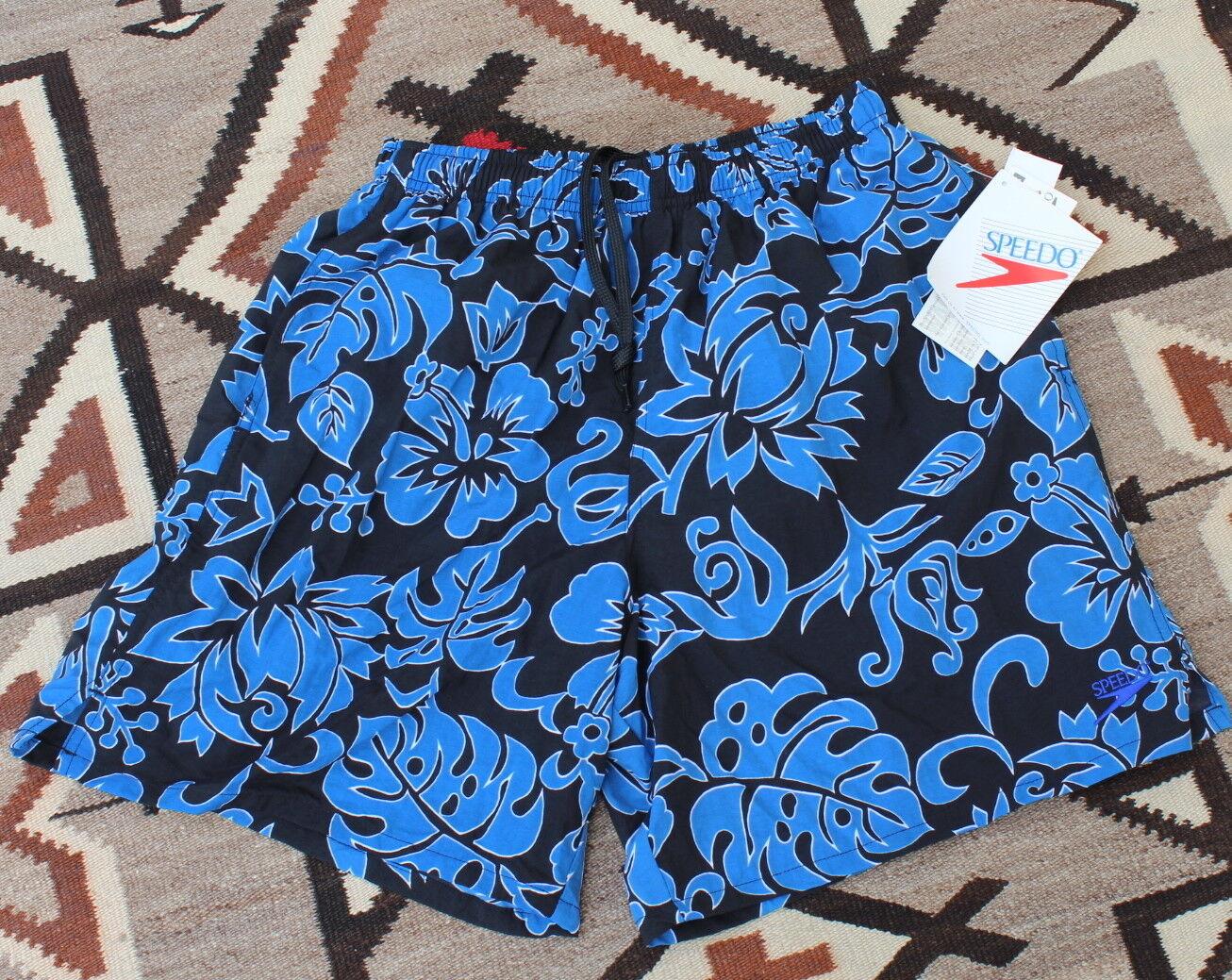 NEW Speedo -Sz M Vintage 1990s Floral Iconic Swim Trunks Shorts