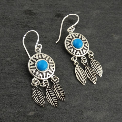 Dream Catcher Dangle Earrings Feathers Dreamcatchers NEW 925 Sterling Silver