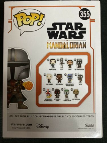 The mandalorian Flame throwing Star wars #355 Funko pop vinyl RARE