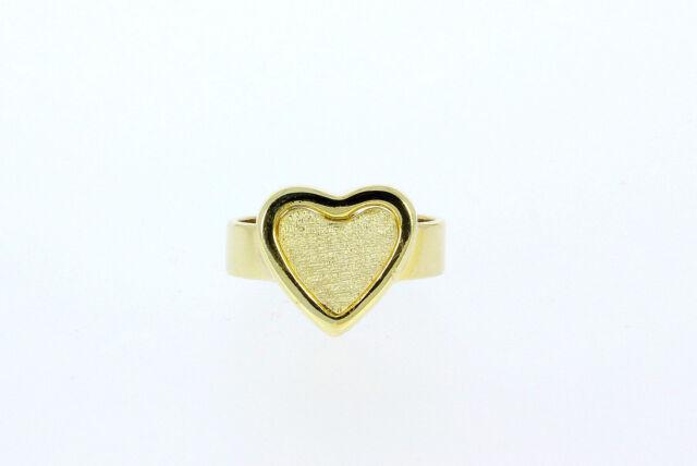 6052-333er Gelbgoldring mit Herz Ringgroße 53,5 Herz 13,2x13,9 mm Gew 4,6 Gram