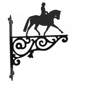 Dressage Horse Ornamental Metal Hanging Bracket