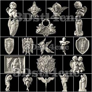 20-3D-STL-Models-Angels-Religion-for-CNC-Router-Carving-Machine-Artcam-aspire