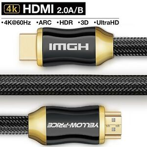 4K-HDMI-Cable-3-6-10-15-25ft-4K-UHD-HDMI-2-0-BEST-Quality-28AWG-Braided-Cord
