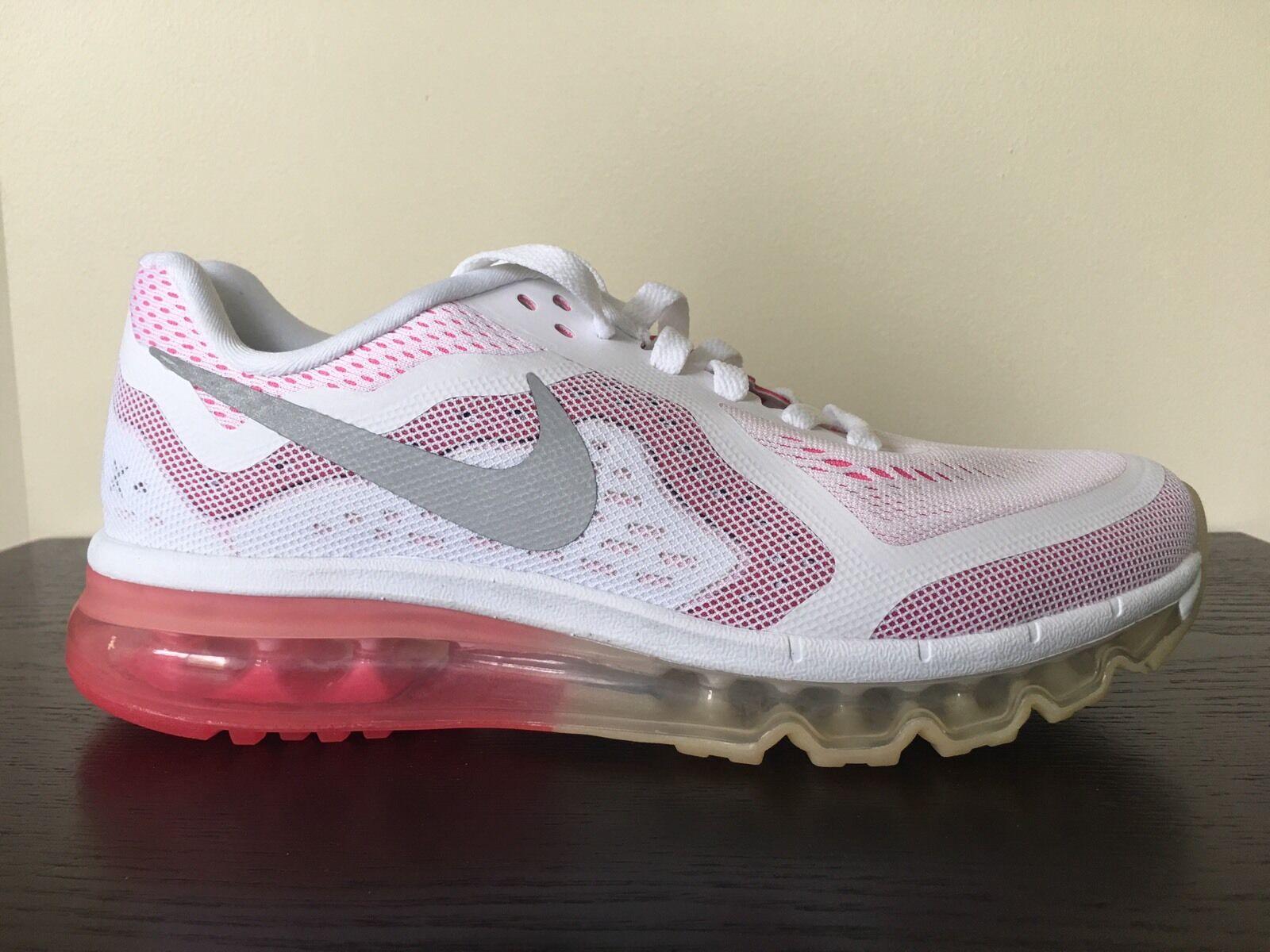 NEW Nike Air Max+ 2014 Womens Size 8.5 white/plum red pink 621078 106 NIB
