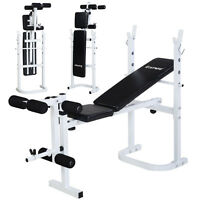 Costway Olympic Folding Weight Bench Incline Lift Workout Training Press Home on sale