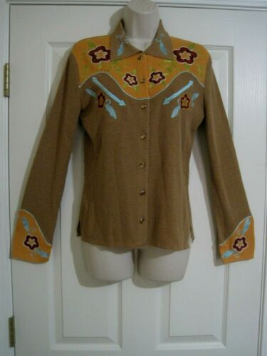 Double D Ranch Linen Blend Knit Embroidered Wester
