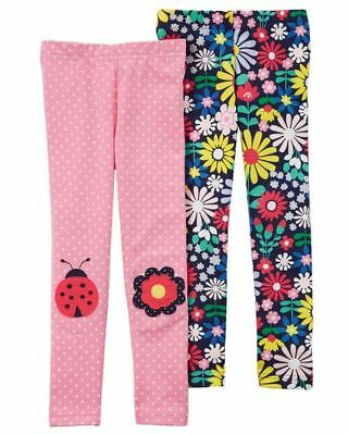 New Carter/'s Pink Butterfly Print Leggings NWT Girls 2T 3T 4T 5T 6 7 8 Girl Pant