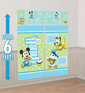 Image Is Loading BABY MICKEY MOUSE Boy 039 S 1st Happy