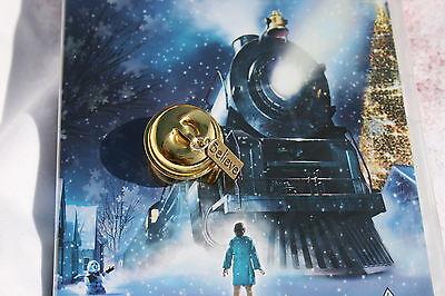 Gold Cracker believe polar express santa sleigh christmas jingle charm bell uk