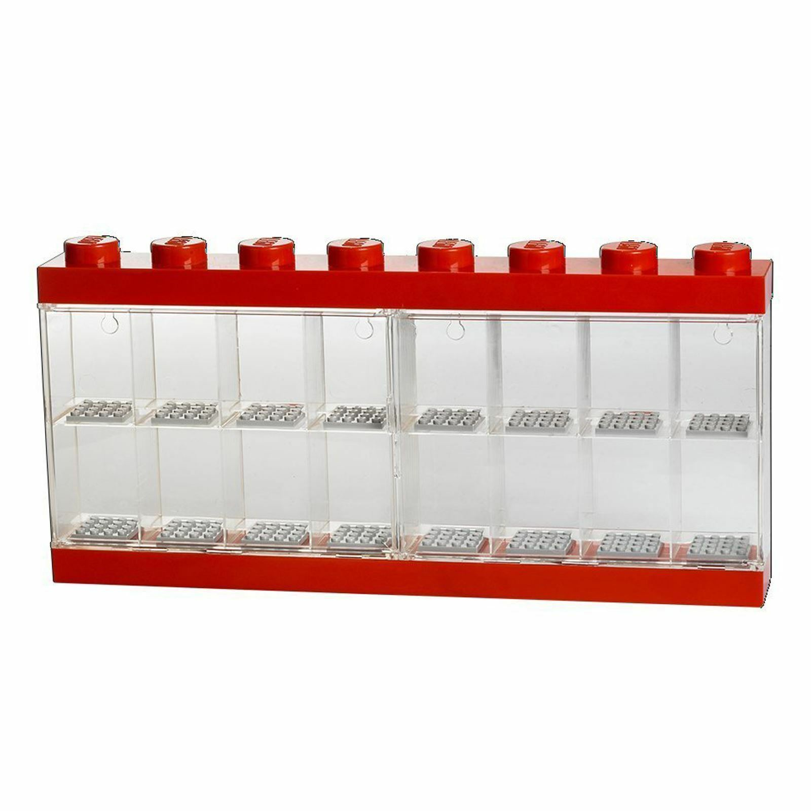LEGO MINIFIGURE RED DISPLAY CASE LARGE
