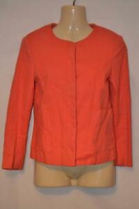 Schoene-Koralle-Pfirsich-Zara-Basic-sechziger-Style-Kurzjacke-Blazer-XS-UK-6-8