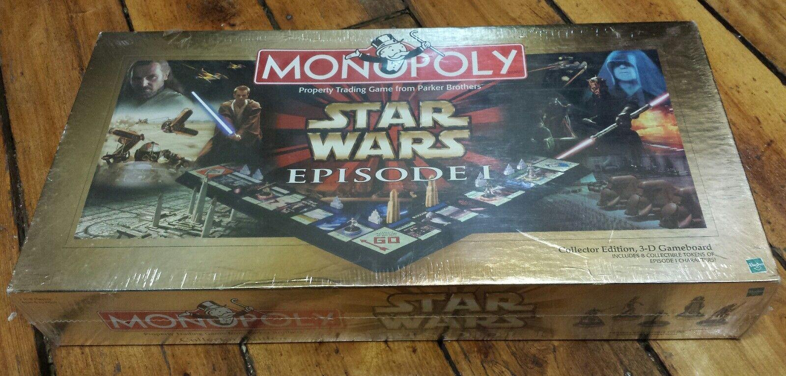 Monopolio  Estrella Wars Episodio I Edición de Coleccionista (Juego de Mesa) SW 1 3d Raro Nuevo