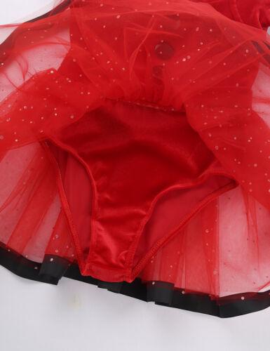 Kids Baby Girls Christmas Santa Claus Costume Ballet Dance Tutu Dress Party Xmas