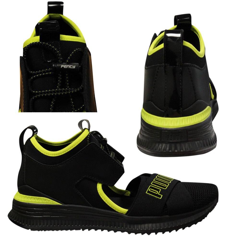 Puma x Fenty by Rihanna Avid Mens Lace Up Black Trainers 367682 01 Q3