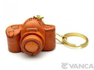Camera Handmade 3D Leather (L) Keychain/Keyring *VANCA* Made in Japan #56111