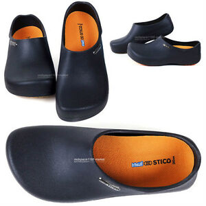 Image Is Loading Men Chef Shoes Clog Kitchen Non Slip Shoes