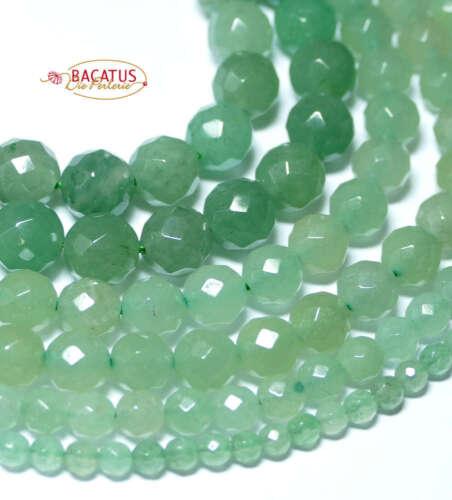 Aventurin Perle facettiert 4-12 mm grün 1 Strang #4102 BACATUS