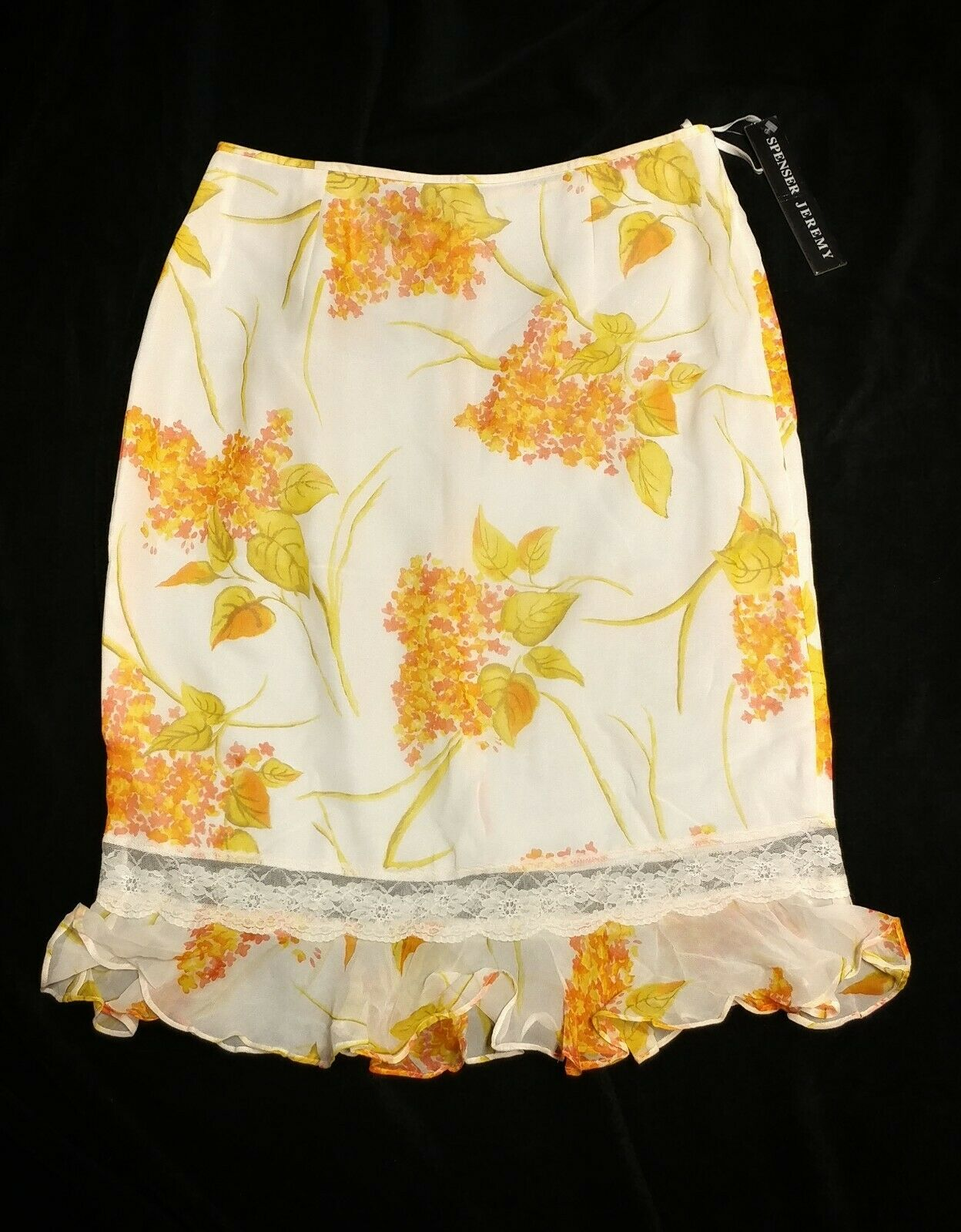 100% Silk Spenser Jeremy Skirt Size 10