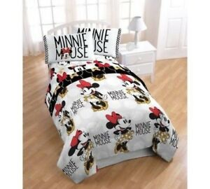 Disney-Minnie-Mouse-comforter-flat-sheet-fitted-sheet-pillowcase-and-a-bonus