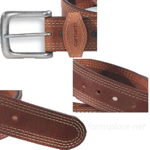 "Carhartt Leather Belt Men Detroit 1-3//8/"" Triple Stitching Belts 2202 Brown Black"